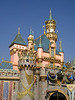 Sleeping Beauty's castle with crowns